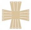 Clover Korbrahmen - in 2 verschiedenen Größen und 3 Formen für selbstgemachte Körbe rechteckig, klein 8421