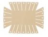 Clover Korbrahmen - in 2 verschiedenen Größen und 3 Formen für selbstgemachte Körbe rechteckig, groß 8424