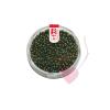 efco Rocailles / Indianerperlen metallic 2,6mm Farbe grün - regenbogen