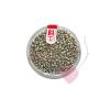efco Rocailles / Indianerperlen metallic 2,6mm Farbe altsilber/dunkelsilber