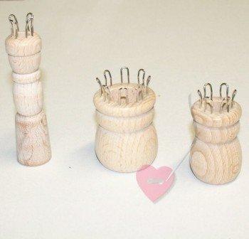 Strickliesl aus unbehandeltem Holz