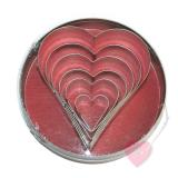 efco Ausstechformen - Set Herzen 7-teilig zum Filzen, Basteln und Backen