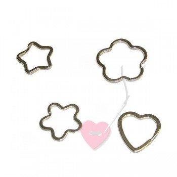 efco Schlüsselringe in Herz-, Blüten- oder Sternform- für selbstgemachte Schlüsselanhänger und Schlüsselbänder