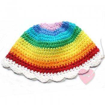 """Sommerlicher Baby-Hut """"Regenbogenfee"""" aus Baumwolle und Kapok"""