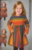 Buch - Farbspiel mit verkürzten Reihen von Ruth Kindla Mädchenkleid Koralle