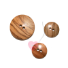 glatter, runder Holzknopf - 2-Loch Holzknopf in 3 Größen erhältlich 25mm und 15mm