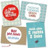 strickimicki - Fröhlich, freche Postkarten rund ums Stricken & Häkeln