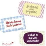 strickimicki - Geschenkanhänger für (handgearbeitete) Geschenke mit fröhlichen Texten